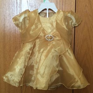 Other - Gold dress with removable jacket